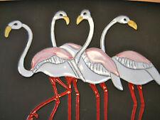 seltene original 50s Wandplatte Kermos Wandteller Flamingo 's  Ruscha  Ära
