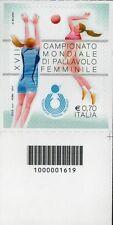1619 CODICE A BARRE LATO DESTRO CAMPIONATO MONDIALE FEMMINILE 0,70 ANNO 2014