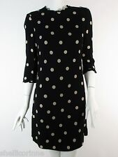 STUNNING WOMENS KATE SPADE NEW YORK POLKA DOT SIGNATURE DIZZY SHIFT DRESS 8 £285