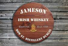 Traditional Jameson Whiskey Barrel End Wooden Pub Sign ☘ Hand Made in Ireland ☘