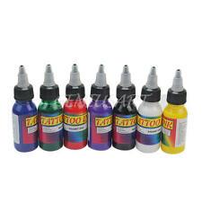 7 Colori 30ml Tatuaggio Colore Tattoo Ink Set Bottiglia Pigmento Trucco Corpo