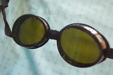 Swiss Army snow Green lens goggle steampunk motorcycle welding VTG Cosplay & Tin