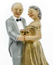 STATUINA topper ANNIVERSARIO 50 anni DECORAZIONE matrimonio NOZZE cake DESIGN
