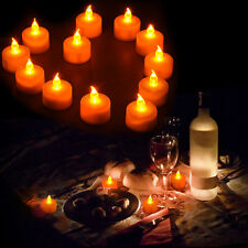 6pcs Candles Tealight Led Tea Light Flameless Flickering Wedding Battery Includ