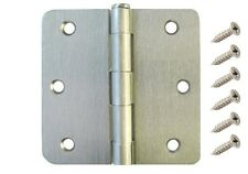 "30 Pack 3.5"" Satin Nickel Interior Door Hinges with 1/4"" Radius DH3514 Hinge"