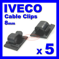 IVECO SELF ADHESIVE CABLE CLIPS WIRING WIRE LOOM HARNESS 8mm HOLDER CLAMP