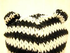 Neko Black & Cream striped Teddy ears Peruvian trapper hat cosplay Festival new