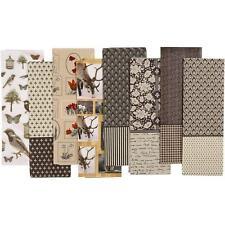 80 Decoupage Paper Sheets Vintage Brown Animals 35x25cm Papier Mache Cover Craft