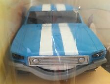 Mustang Micro Machines Tex Talking Car Motor Mouths Blue Racing Stripes Vtg Toy