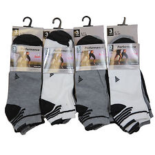 S57 MENS 12prs COTTON ATHLETIC MULTI STRIPE GYM SPORTS SUMMER TRAINER SOCKS 6-11