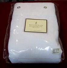 New MIP Pottery Barn 100% Cotton Shower Curtain 72x72 Waffle Weave Ivory/White
