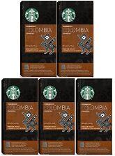 Starbucks Nespresso Espresso Colombia Coffee Compatible 50 Pods, 5 x 10 Pods