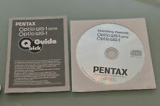 (PRL) PENTAX WG-1 GPS GUIDA MANUALE GUIDE WG-1 GPS SERIES OPTIO QUICK GUIDE + CD