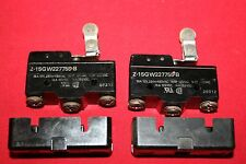 Lot of (2) Omron Limit Switches Z-15GW227755-B