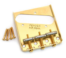 Genuine Fender Gold Vintage 3-saddle Telecaster/Tele Bridge 099-0806-200