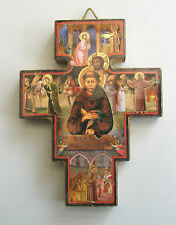 Franciscan Wooden Wall Cross Religious Gift Christian