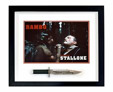 Sylvester Stallone John Rambo Autographed Framed FIRST BLOOD Knife ASI Proof