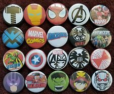 Marvel Avengers Button Badges x 20. Pins. Collector. Wholesale. Bargain :0)