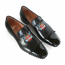 CHRISTIAN LOUBOUTIN mens studded captain daddy loafers spike stud shoes 41/8 NEW