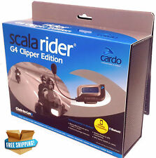 Cardo Scala Rider G4 Clipper Intercom Bluetooth Bike Helmet Handsfree Headset