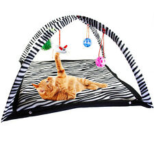 Cat Funny Activity Tent with Hanging Toy Balls for Pet Cat Exercise Stay Active
