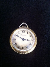 Swiss Made WORKING Lucerne Wind Up Necklace/Pendant watch - gold and silver