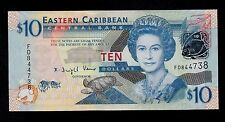 EAST CARIBBEAN STATES  10 DOLLARS ( 2008 ) PICK # 48 UNC BANKNOTE.