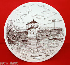 Gustavsberg Sweden Nykopingstallriken NR6 1983 Decorative Wall Plate White Brown