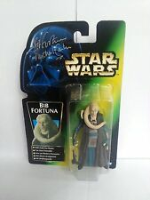STAR WARS  AUTOGRAPHED BIB FORTUNA WITH HOLD-OUT BLASTER, KENNER 1996, CARDED