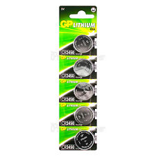 5 x GP Lithium CR2450 batteries 3V Coin Cell DL2450 BR2450 Remote Watch EXP:2026