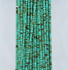 2X1.5MM TURQUOISE GEMSTONE GREEN BICONE HEXAGON DIAMOND LOOSE BEADS 12.5""