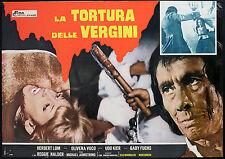 CINEMA-fotobusta LA TORTURA DELLE VERGINI h. lom,o.vuco
