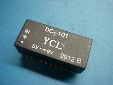 (1) YCL DC-101 LAN DC/DC CONVERTER ISOLATION 500V POWER IN 5V OUT 9V 23 PIN DIP
