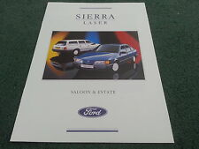 March 1989 FORD SIERRA LASER Special Edition 5 Door & Estate BROCHURE FA894 MINT