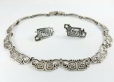 VINTAGE MARGOT DE TAXCO MEXICO STERLING SILVER NECKLACE AND EARRINGS
