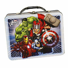 Marvel Avengers Metal Tin Lunch Box Team Up NEW Toys Carrier Iron Man Thor Hulk