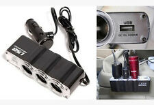 Car Accessories Car Cigarette Lighter Splitter 3 Sockets For Mp3 Mp4 Cell Phones