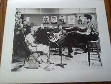 Rare Promo Proof Photo B&W Print Elvis Presley Studio Recording Film Set