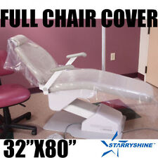 "Starryshine DENTAL CHAIR COVER (FULL CHAIR) 32"" x 80"" CLEAR PLASTIC BOX OF 125"