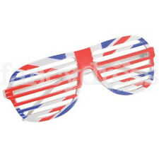 Union Jack Slatted Shutter Glasses UJ Great Britain Royal Street Party Rugby NEW