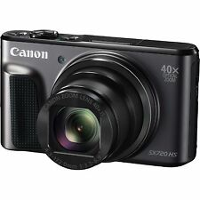 Canon SX720 20MP 40X Opt-Zoom WiFi HD Digital Camera - Black