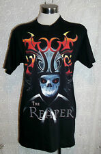 "UNISEX/PUNK/GOTH/EMO-""GRIM REAPER"" DESIGN TEE-SHIRTS. SIZE M.HEAVY COTTON. NEW"