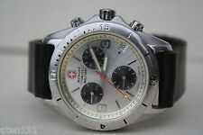 WENGER SWISS ARMY MILITARY CHRONOGRAPH MENS WATCH ETA QUARTZ MOVEMENT NEW BATT.