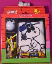 Peanuts Snoopy JOE PRO golf towel ball tee gift set NEW IN BOX