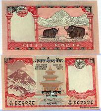 NEPAL billet neuf de 5 RUPEES EVEREST HIMALAYA YACK Pick 60