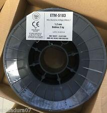 1 bobina 2 Kgr Alambre de Aluminio 5183 para Soldadura MIG de 1,2mm ALMg4,5Mn0,7