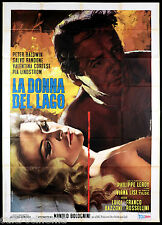 LA DONNA DEL LAGO MANIFESTO CINEMA VIRNA LISI GIALLO ITALIA 1965 MOVIE POSTER 4F