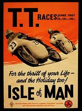 ART PRINT POSTER SPORT ADVERT TT RACES BIKES ISLE OF MAN 1967 NOFL0851