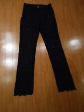 """INC"" Ladies evening beaded BLACK LACE dress fancy slacks pants, Reg. SIZE 10"