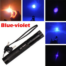 US Adjustable Focus Military Blue-Purple Laser Pointer Pen 5mw 405nm Burning NEW